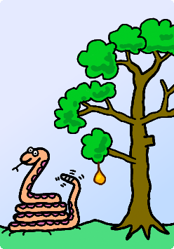 Hungry low-hanging fruit eating snake