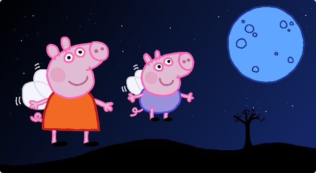 Peppa, George and a blue moon. My latest schedule.
